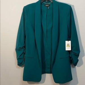🍀DKNY Super Trendy Size 14 Money Green Blazer